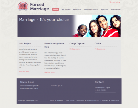 Asha Forced Marriage Website
