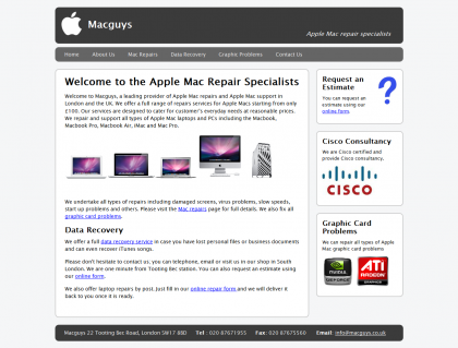 Macguys Website Design
