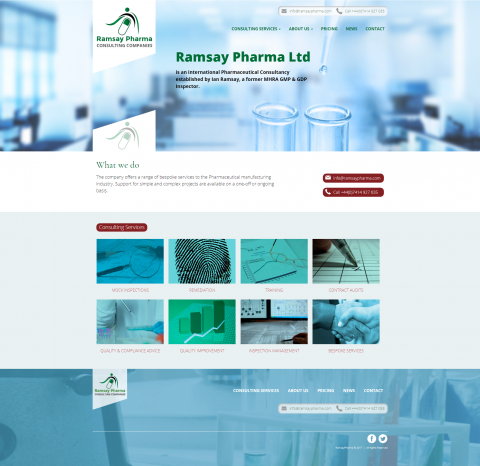 Ramsay Pharma Website Design