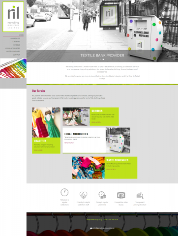 Recycling Industries Website Design