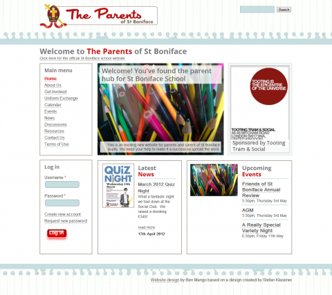 The Parents of St Boniface Community Website