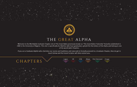 The Great Alpha Website Design