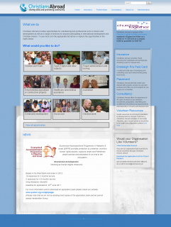 Website Design and Support for Christians Abroad