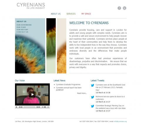 London Cyrenians Website Design