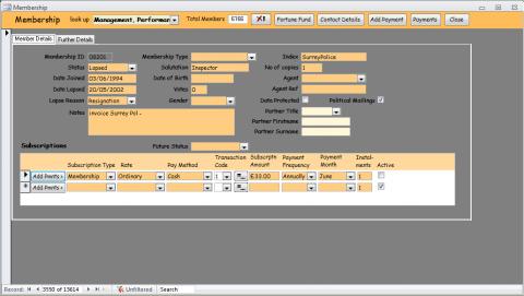 Database design for dating site