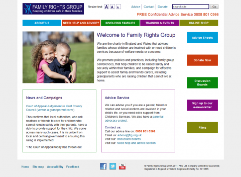 Family Rights Group Website