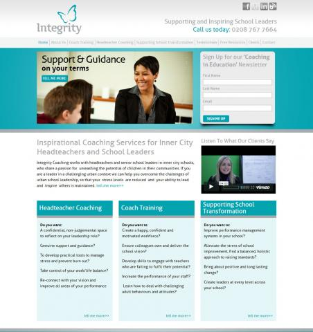 Integrity Coaching Website Design