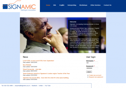 Signamic Website Design