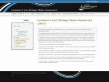 Lewisham JSNA Website Design Project