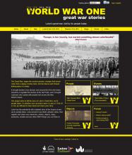 World War One Website Design