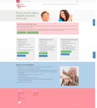 Carers Register Website Design