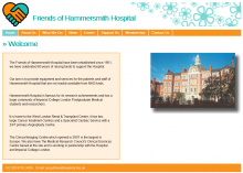 Friends of Hammersmith Hospital website design